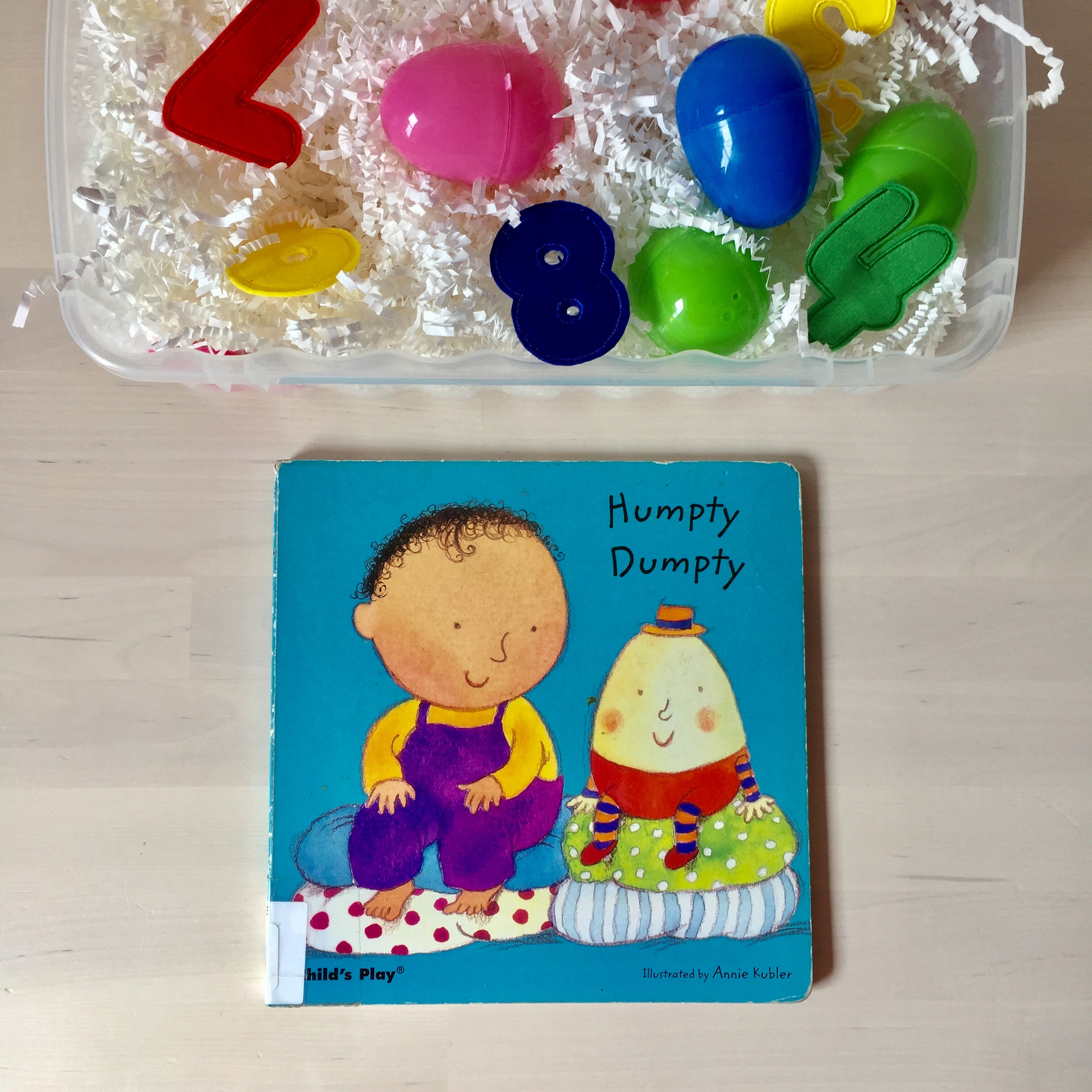 humpty dumpty storytime and sensory bin story time for babies and toddlers