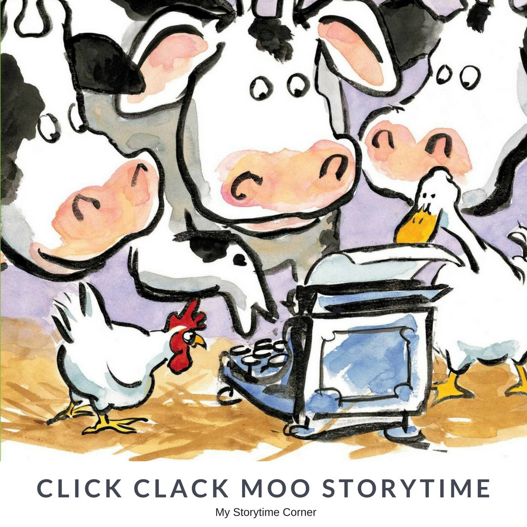 Click Clack Moo Story Time for Preschoolers inspired by Doreen Cronin's Picture Book