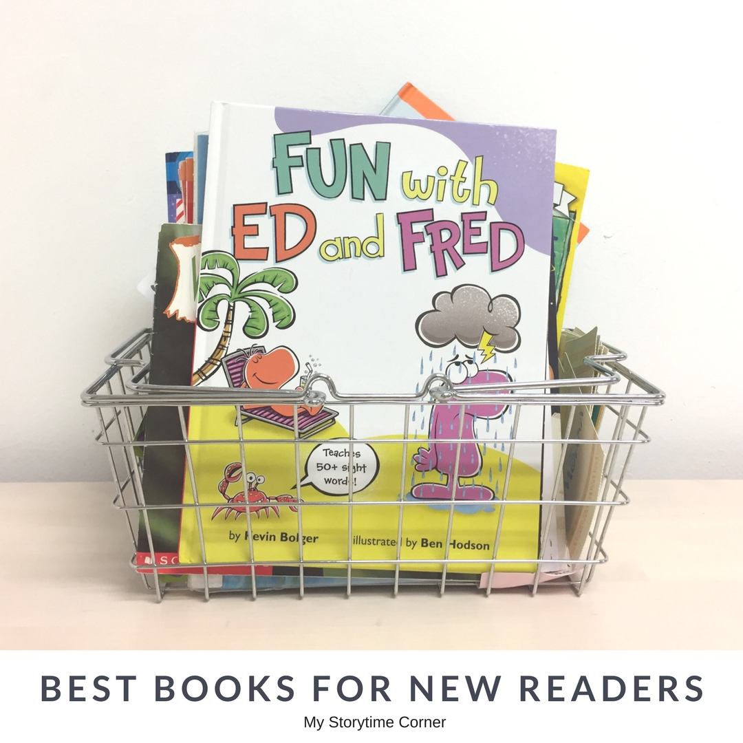 Easy Reader Basket of Books that New Readers in Kindergarten and First Grade can actually read