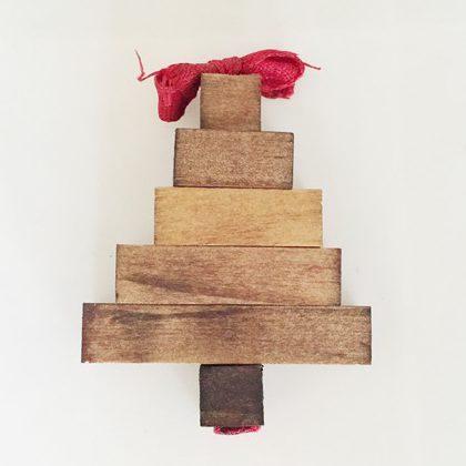 Kid Made Christmas Tree Ornament